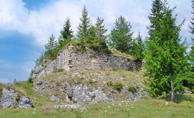 Cetatea Oratia din comuna Dambovicioara - wikimedia