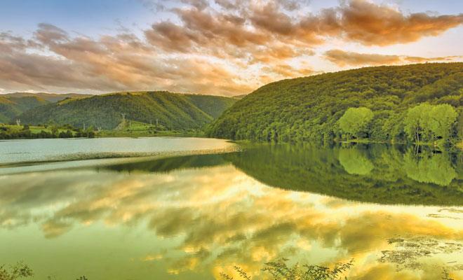 Lacul Gilau din comuna Gilau