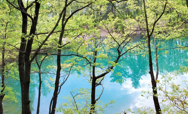 Lacul-Albastru-din-Baia-Sprie-judetul-Maramures---flickr