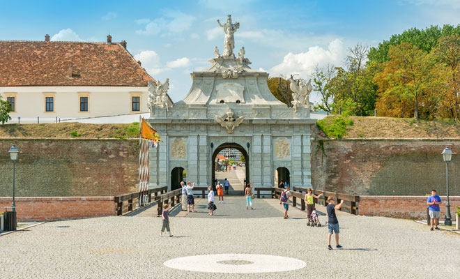 Cetatea Alba Carolina din orasul Alba Iulia