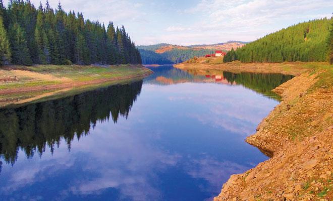Lacul Fantanele din comuna Belis