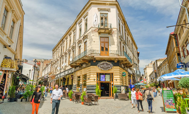 Strada Lipscani din Bucuresti